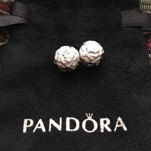 Authentic Pandora Rose Garden Pink Enamel Clips 2